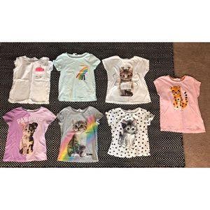 Girls H&M shirt bundle